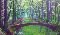 Kanal, Wald, Wasser, Malerei