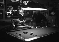 Available light, Cadaques, Billiard, Analoge fotografie