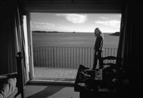 Fenster, Bucht, Cadaques, Frau