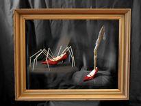 Surreal, Rote schuhe, Fotografie, Schuhe