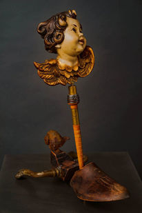 Assemblage, Engel, Taxi, Skulptur