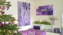 Acrylmalerei, Lila, Weihnachten, Strahlen