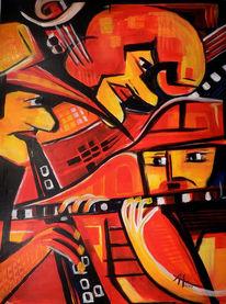 Rot, Jazz, Musik, Malerei