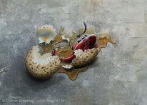 Kaputt, Acrylmalerei, Guggart, Embryo