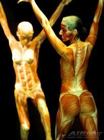 Aufführung, Airbrush, Bodypainting, Malerei