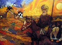 Don quijote, Sancho pansa, Malerei, Suche