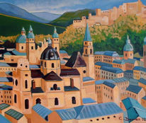 Salzburg, Oil on canvas, Malerei,