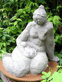 Skulptur, Gartenfigur, Gartenskulptur, Katze