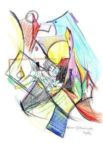 Zeichnungen, Abstrakt, Kirche, Dorf