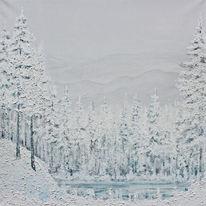 Winter, Tanne, See, Schnee