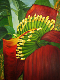 Exotisch, Ölmalerei, Flora, Malerei