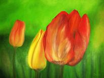 Blüte, Ölmalerei, Flora, Malerei