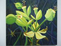 Blüte, Blumen, Ölmalerei, Pflanzen