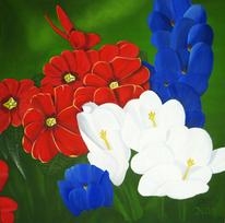 Frühling, Blüte, Ölmalerei, Blumen
