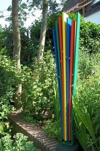 Bunt, Gartenskulptur, Komposition, Farben