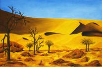 Sand, Wüste, Ölmalerei, Natur
