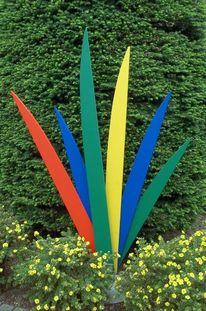 Objekt, Farben, Skulptur, Gartenobjekt