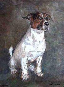 Tierportrait, Tiermalerei, Hundemaler, Jack russel