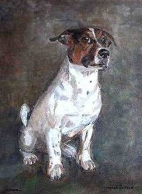 Hundeportrait, Gizmo, Tierportrait, Tiermalerei