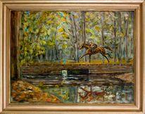 Pferdeportrait, Geländeritt, Portrait, Pferdemaler