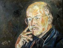 Volker schlöndorff, Portrait, Schlöndorff, Porträtmalerei