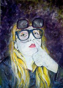 Popel, Retrobrille, Wegefindung, Acrylmalerei