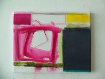 Pink, Abstrakt, Gelb, Grau