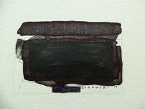 Minimalistisch, Abstrakt, Schwarz, Malerei