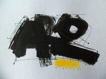 Acrylmalerei, Schwarz weiß, Abstrakt, Zeichnungen