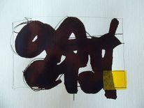 Abstrakt, Schwarz, Gelb, Skizze