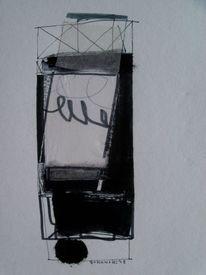Schwarz weiß, Schwarz, Abstrakt, Zeichnung