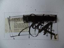 Minimalistisch, Schwarz, Collage, Abstrakt