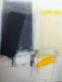Abstrakt, Gelb, Grau, Malerei