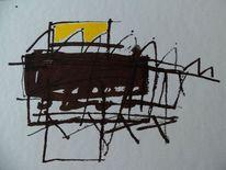 Schwarz, Abstrakt, Acrylmalerei, Zeichnungen