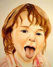 Kopf, Kinderportrait, Malerei, Acrylmalerei