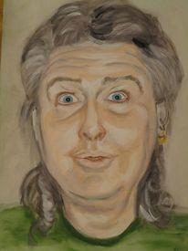 Portrait, Kopf, Malerei, Aquarellmalerei
