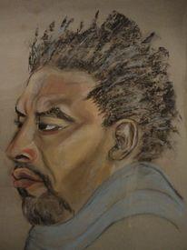 Kunsthandwerk, Portrait, Kreide, Malerei