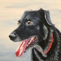 Vierbeiner, Hund, Acrylmalerei, Malen