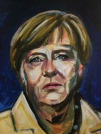 Gesicht merkel, Politik, Malerei, Menschen porträt