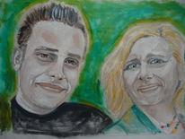 Malerei, Portrait, Ölmalerei, Kunsthandwerk