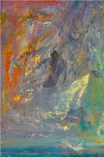 Ölmalerei, Abstrakt, Aluminium, Malerei