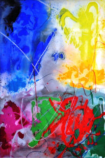 Glas, Abstrakt, Malerei,