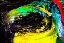 Aluminium, Abstrakt, Ölmalerei, Malerei