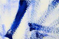 Weiß, Abstrakt, Blau, Malerei