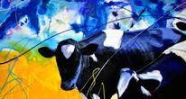 Kuh, Gemälde, Malerei, Surreal