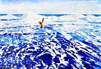 Blau, Küste, Strand, Fuchs