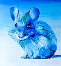 Atelier, Model, Blau, Portrait