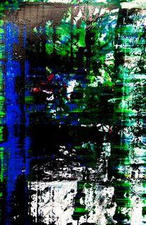 Schloss, Wasserlilien, Grün, Blau