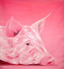 Rosa, Ruhe, Schweigen, Schwein