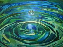 Wasser acryl, Malerei, Tropfen